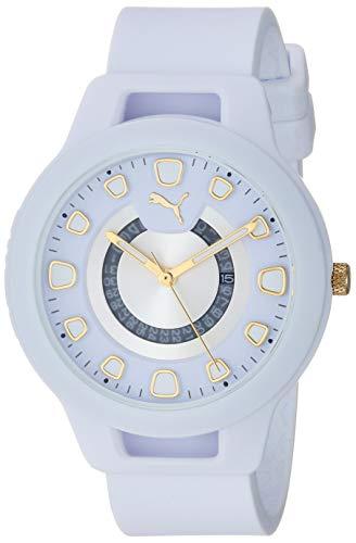 PUMA Women's Reset Quartz Watch with Silicone Strap, White, 18 (Model: P1011)