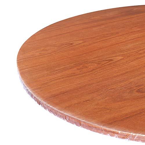 WINOMO 1 mantel redondo de PVC transparente para mesa de 36 a 44 pulgadas de diámetro, extra transparente, de plástico cortado, resistente al agua, para comedor