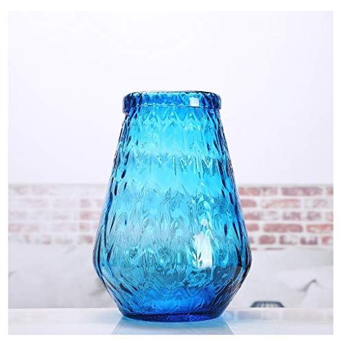 Yyqx Vasi Bottiglia Creative Glass Nordic Vasi di Coltura idroponica della pianta del Fiore colorato terrario Container Table casa della Decorazione del Vaso Vaso (Color : Blue, Dimensione : Large)