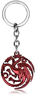 Key Chains - Movie Series Game of Thrones Keychain 3 Colors The Song of Ice and Fire Targaryen Dragon Keychain - by YPT - 1 PCs