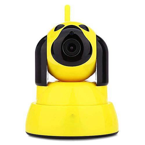 CHENC Haustier Hund Kameras, 1080P HD WiFi Kamera Videoüberwachung Start Mit Sicherheit Doppel-Gewinn-Antennen-Wolke,Gelb