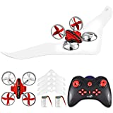 Gliding Drone, Supkiir Land and air Remote Control Quadcopter for Adult, Portable Mini Helicopter for Beginner with Drone, Glider, Landship Control Mode, 3D Flip, Headless Mode