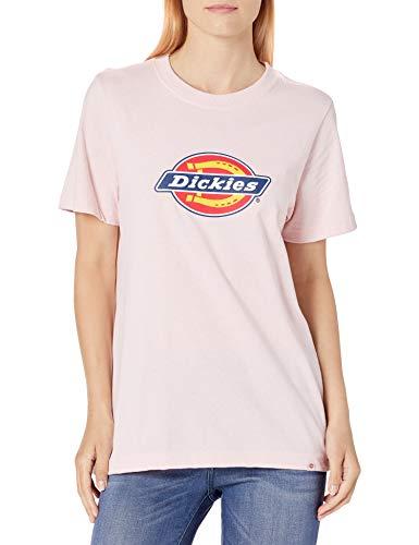 Dickies Women's Logo Graphic Short Sleeve T-Shirt, Lotus Pink, 2X