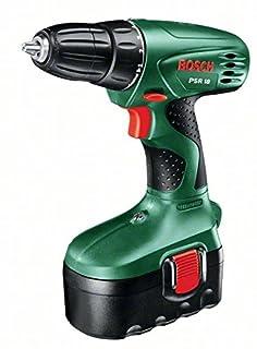 Bosch Home and Garden 0.603.955.300 Bosch PSR 18-Atornillador con batería (1 velocidad, 10 niveles, 18 V), 21.6 W, Negro, Verde (B000PXFWUK)   Amazon price tracker / tracking, Amazon price history charts, Amazon price watches, Amazon price drop alerts