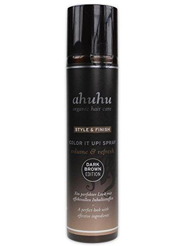 ahuhu organic hair care DARK BROWN EDITION COLOR IT UP! SPRAY (Trockenshampoo) volume & refresh 300ml