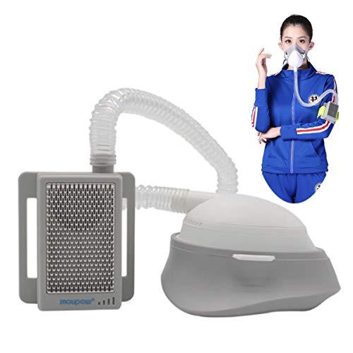 Weiming Respirador eléctrico Reutilizable con Filtro HEPA, purificador de Aire Personal portátil 3 Modos de Velocidad del Ventilador para alergia al Polen antipolución de Polvo PM2.5,Host