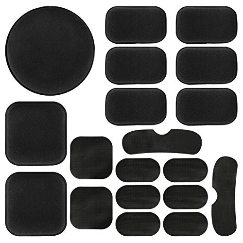 Aoutacc Universal Airsoft Helmet Pads, Helmet Replacement Foam Padding Kits Set Accessories Mats for Fast/Mich/ACH/USMC/PASGT Helmet (EVA Foam, Black)