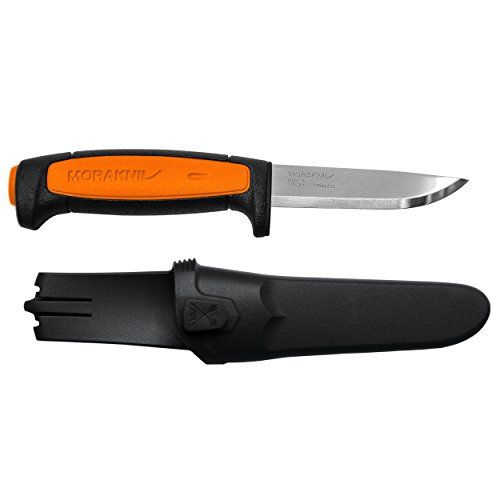 Morakniv Craftline Basic 546 Fixed Blade Utility Knife with Stainless Steel Blade and Combi-Sheath, 3.6-Inch