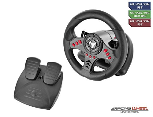 Subsonic - Volant Racing Wheel Universal avec pédalier pour Playstation 4 - PS4 Slim - PS4 Pro - Xbox One - Xbox one S – PC -...