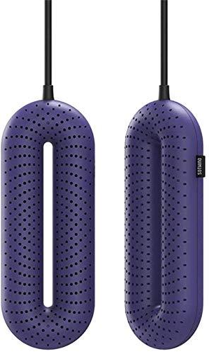 Secado de calzado Secador calentable eléctrico, secador de zapatos secador de botas con calentador de pie de temporizador, esterilización de esterilización desodorante, azul, secador azul (color: azul