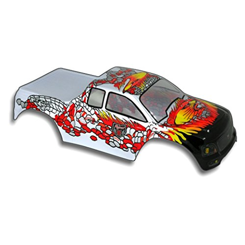 Redcat Racing Truck Body (1/10 Scale), Silver/Red