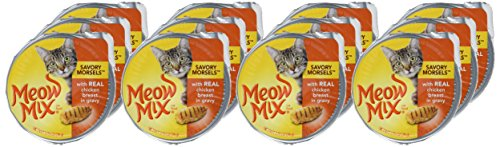 Meow Mix Savory Morsels Wet Cat Food, 2.75 Ounce Cups 4
