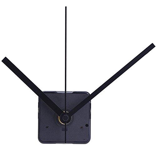Mudder Lautloses Quarz-Uhrwerk,Maximale Zifferblatte von 11/25Zolldick,Gesantschaftlänge von 4/5 Zoll, Schwarz