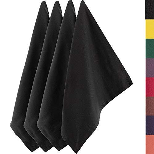 Sidorenko strofinacci cucina cotone 45x75 cm grigio monochromatico - Set di asciugamani da cucina di alta qualità in 4 pezzi - Asciugapiatti Premium - stracci cucina in cotone per asciugare - grigio