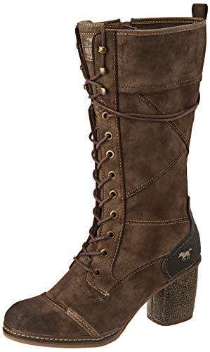 Mustang Damen 1371-503 Kniehohe Stiefel, Dunkelbraun, 39 EU