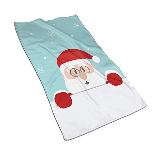 N\B Bonita toalla de mano de Papá Noel para baño, súper suave, absorbente, toalla multiusos para baño, gimnasio y spa, 27.5 x 15.7 pulgadas