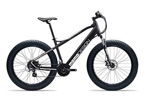 """Momo, Bicicletta MD-E26MTBF-W CAPRI 26"""" Unisex adulto, nero e bianco, unica"""