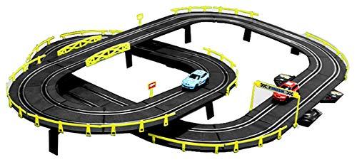 YYQIANG Track Racing Kids Toys Racing Competitive Racing Montaje Eléctrico Juguetes Slot Vehicle Vehicle Sets con Control Remoto/manivela Mano Boy Cumpleaños Aficiones Infantiles