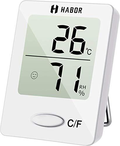 Habor Mini Thermometre Interieur, Hygrometre Interieur de Haute Précision pour Détecter l'Humidité et la Température,...