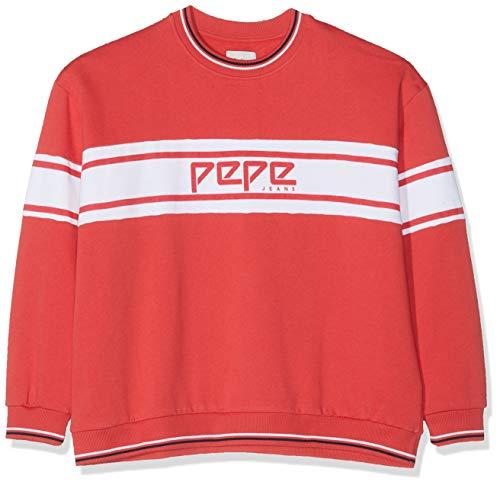 Pepe Jeans Damen Bergamotte Pl580855 Sweatshirt, Rot (Flame 265), Medium