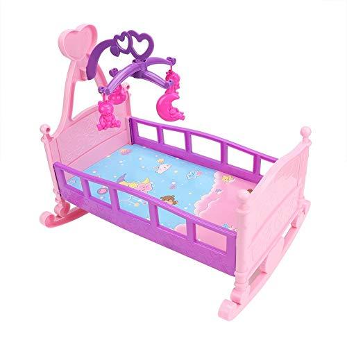 Hztyyier Baby Puppe Wiege Möbel Große Kunststoff Simulation Prinzessin Puppe Bett Spielhaus Spielzeug Zubehör