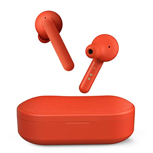 HUANGDA TicPod Solo Smart Bluetooth Écouteurs Intra-Auriculaires Drive Universal Android iOS (Color : Red)