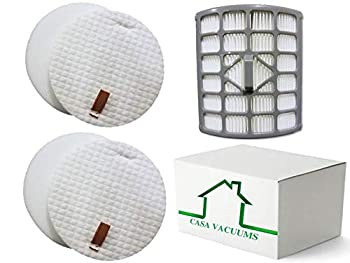 Casa Vacuums 2+1 Replacement Shark Rotator Slim-Light Lift-Away Filter Kit for NV341 & NV341Q Compare to Part # 1229FC340 & XHF340