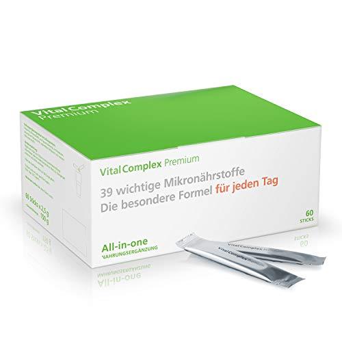 VitalComplex Premium - 39 ausgewählte Mikronährstoffe – Die besondere Formel für jeden Tag - Vitamin B Komplex - Aminosäuren Komplex - Multivitamine