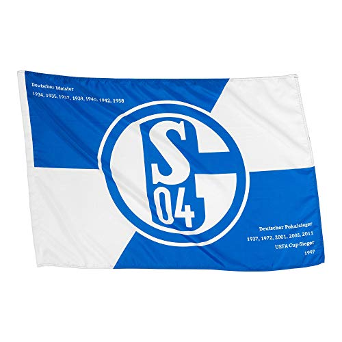 FC Schalke 04 Schwenkfahne Fahne 100x150cm (one Size, blau/weiß)