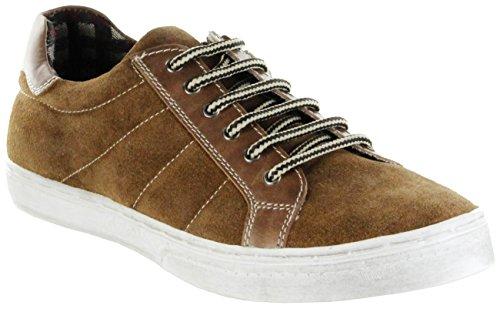 Bergheimer Trachtenschuhe Sneaker Halbschuhe braun Leder Kinder Schuhe Jonas, Farbe:braun, Größe:32 EU