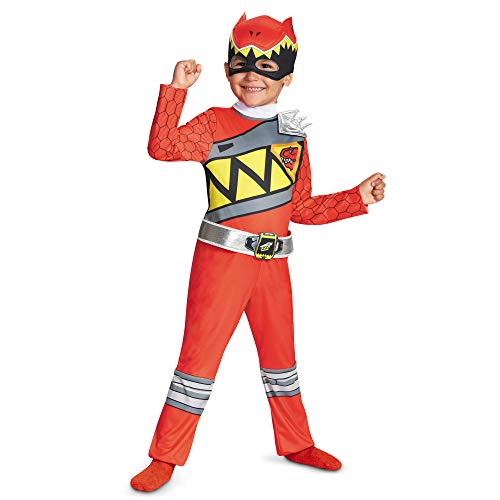 Power Rangers Costume For Boys Red Dino Charge Classic Kids Beast Morphers Ninja Dinosaur Red Ranger For Toddler Medium 3T-4T