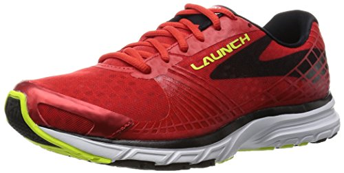 Brooks Herren Launch 3 Laufschuhe, Rot (HighRiskRed/Black/Nightlife), 41 EU