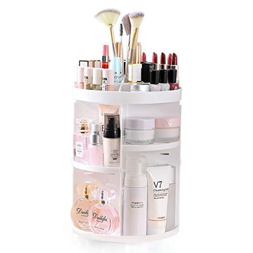 Bijoux Support D/écran Cosm/étique avec 8 Compartiments de Rangement Organisateur de Maquillage Crystal Clear Porte-pinceau /à Maquillage pour Tiroirs de Salle de Bains de Comptoir Vanity