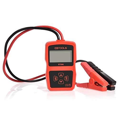 SEDOOM Probador De Batería De Automóvil, EBBOOLS 12V 100-2000 Tester del Sistema De Batería CCA 220AH, con Prueba De Arranque