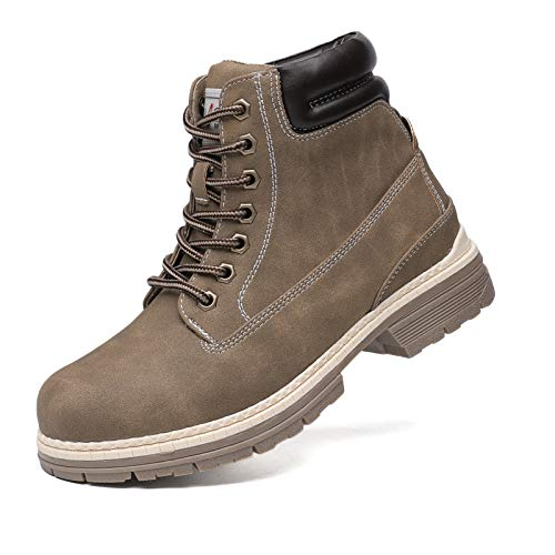 Combat Work Hiking Boots for Women - Ladies Casual Waterproof Outdoor Boots, Walking Hiking Shoes, Backpacking Boots FNW2018-KHAKI-7.5