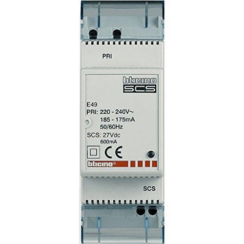 BTicino Spa E49 SCS Alimentatore Compatto, 2 DIN, 230 V