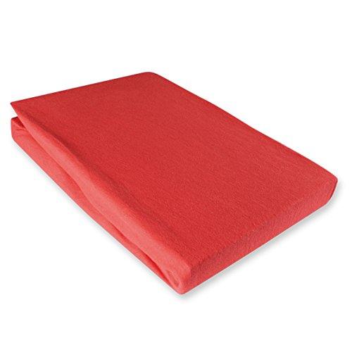 Jersey Spannbettlaken 140-160x200cm Rot 100% Baumwolle