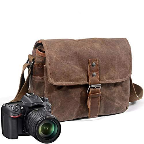 GMZS Bolsa de la cámara de la fotografía, Bolsa de cámara Retro, para Viajar, al Aire Libre, Senderismo, etc,A