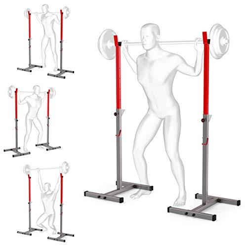K-Sport: Langhantelablage bis 180kg I Squat-Rack für Langhanteltraining I Hantel-Ablage zum effektiven Muskeltraining I Kniebeugenständer I Professionelle Fitnessgeräte für Zuhause