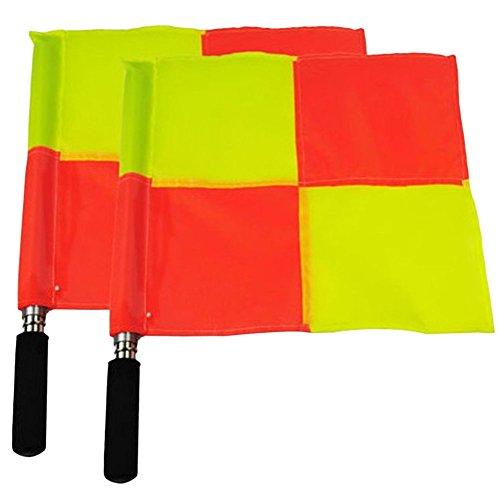 2×Chytaii Schiedsrichter Flagge Fußball Linienrichter Flaggen Fußball Schiedsrichter Assistenten Fahnen Set Gelb