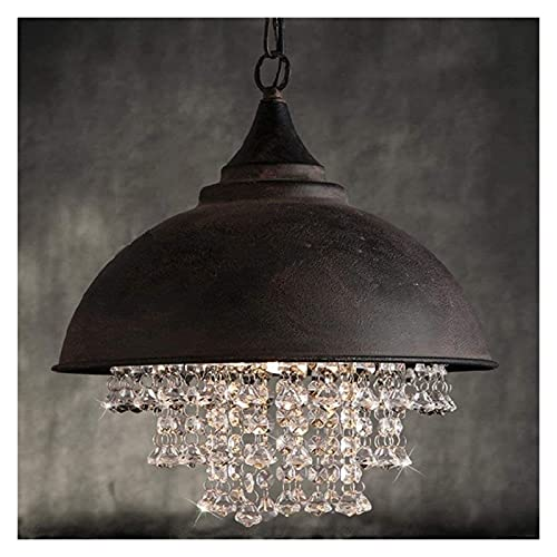 nakw88 Candelabro Lámpara Colgante Vintage Moderna Lámpara Colgante de Cristal Decoración para Sala de Estar Hotel Restaurante Cafetería Lámpara Colgante de Metal Lámpara Colgante Lámpara de Interior