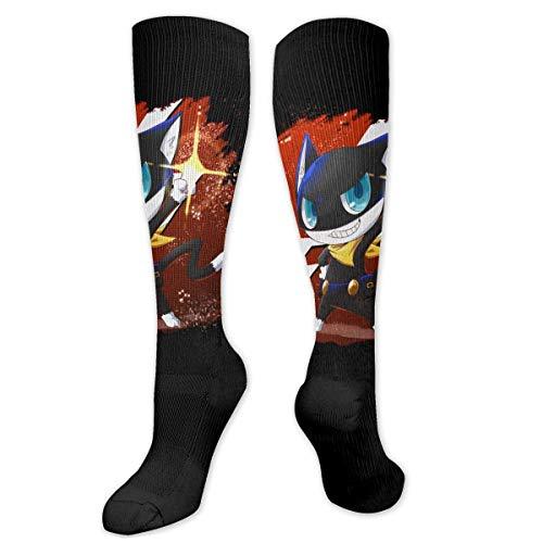 Game Persona 5 Joker Amamiya Ren Unisex Comprion Calcetines hasta la rodilla Pantalones Calcetines largos de tubo