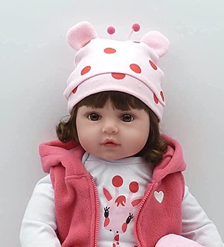 """HRYEOY Bebe Reborn Muñecas Bebes 20"""" 50 cm Muñecas Reborn para Niñas Vinilo de Silicona Realista Hecho a Mano Reborn Baby Dolls Juguetes"""