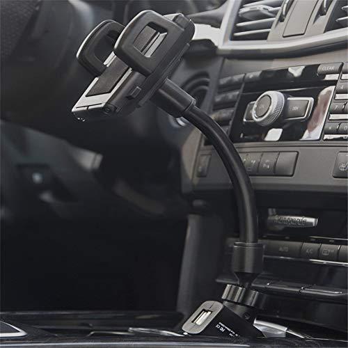 NOBRAND Mobiele telefoon oplader beugel, Multifunctionele mobiele telefoon beugel, auto sigaret aansteker dual USB seat navigatie opladen rack universeel, voor auto reizen.