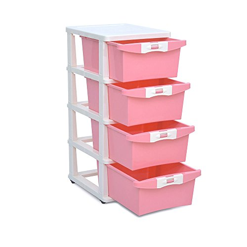 Nilkamal Chest of Drawers (Pink)