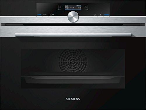 Siemens CB675GBS1 - Horno (Medio, Horno eléctrico, 47 L, 47 L, 30-300 °C, Negro, Acero inoxidable)