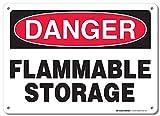 HUIOP Danger - Reglas de barra de diseño vintage para almacenamiento inflamable al aire libre (20 x 30 cm)