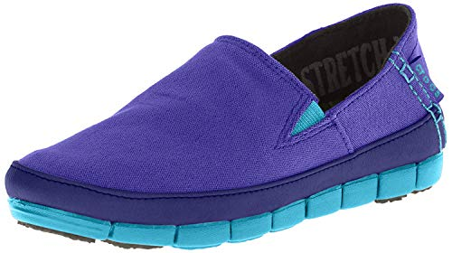 CROC Womens Stretch Sole Slip On Loafer Shoes, Ultraviolet/Electric Blue, US 6