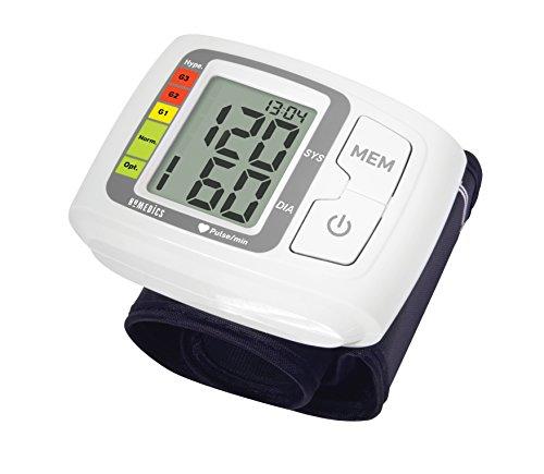 HoMedics automatisches Blutdruckmessgerät, Benutzung Zuhause, Herzschlag, Erkennt Herzrhythmusstörungen, basierend auf Vorgaben der Weltgesundheitsorganisation, 60 Messspeicher, 14-19,5cm Manschette