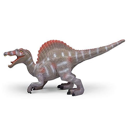 RECUR Spinosaurus Toys 11'' Jurassic Dinosaur Hand-Painted Plastic Dinosaur Figurine Jurassic Dinosaur Action Figures for Collectors for Kids Ages 3+